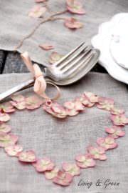 Sticken mit Hortensienblüten