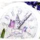 Decoupage Uhr