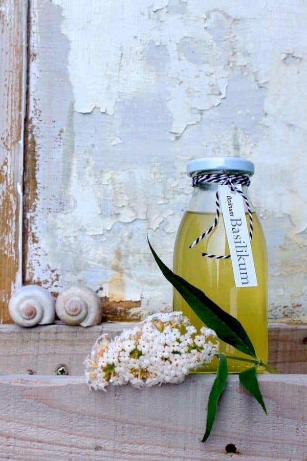 Aroma im Glas: Basilikum Sirup