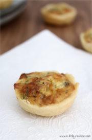 Mini-Quiches mit Frischkäse