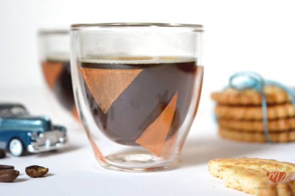 DIY Espresso Gläser bemalen | Mohntage | Dieser Koffein-Kick hat Stil