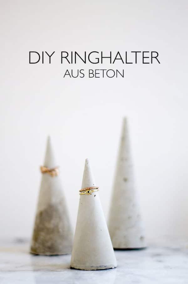 DIY Ringhalter aus Beton
