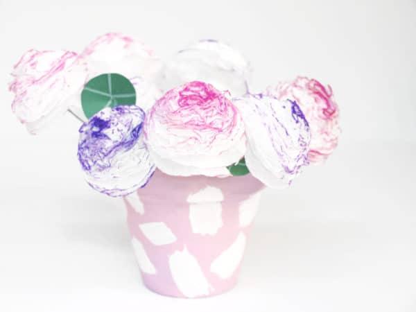 Schnelle Blumen aus Papierservietten