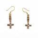 Ohrringe/Ohrhänger Bronze mit Wolfskreuz