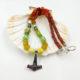Halskette Thorshammer Glasperlen silber # 55