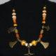 Wikinger Halskette Prunkkette 5 Anhänger Thorshammer/Mjölnir/Axt/Wolfskreuz/Rabe Unikat # 104
