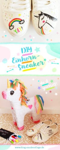 DIY EINHORN-SNEAKER BEMALEN