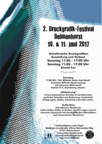 2. Druckgrafik-Festival 2017 in Delmenhorst/Bremen