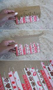 Geburtstagskarte mit Washi-Tapes