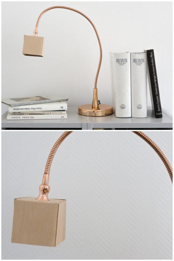 Licht & Leder: Lampe mit Kupfer und Naturleder