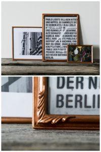Bilderrahmen-Verschönerung mit Kupferfarbe