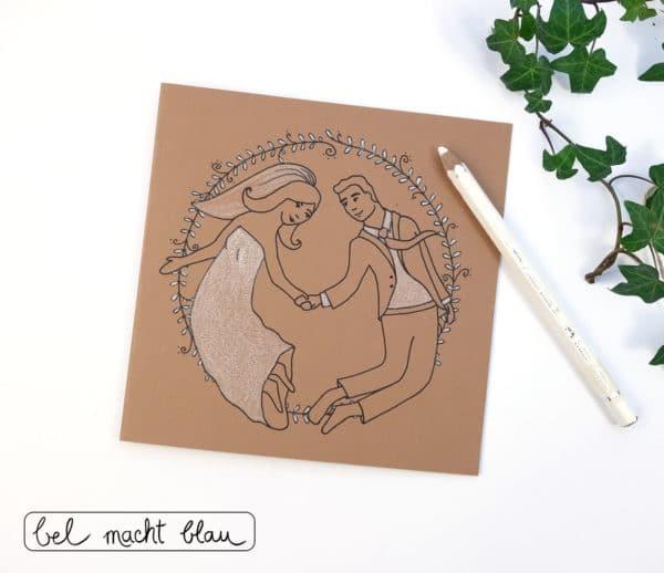 Alles Liebe zur Hochzeit! Glückwunschkarten-Freebie