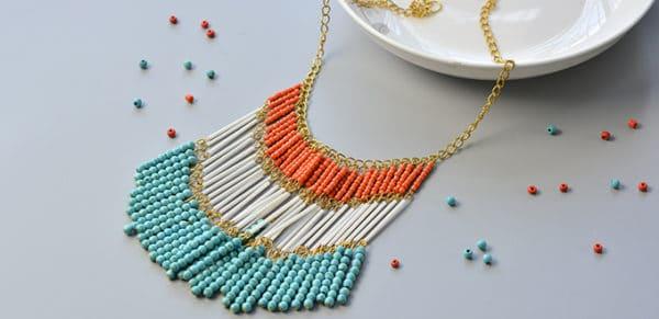Wie eine Handgamchte Halsketten mit verschiedene Perlen fertigen?