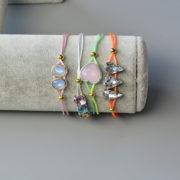 Wie kann man Multi-Armbänder mit Nylonfaden und bunte Perlen