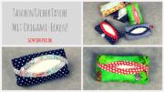 TaschenTücherTasche mit Origami-Ecken nähen