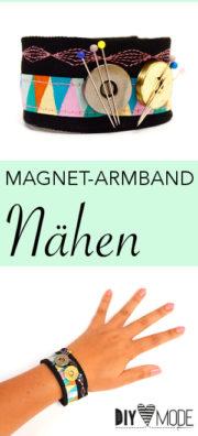 Magnetisches Nadelkissen-Armband nähen