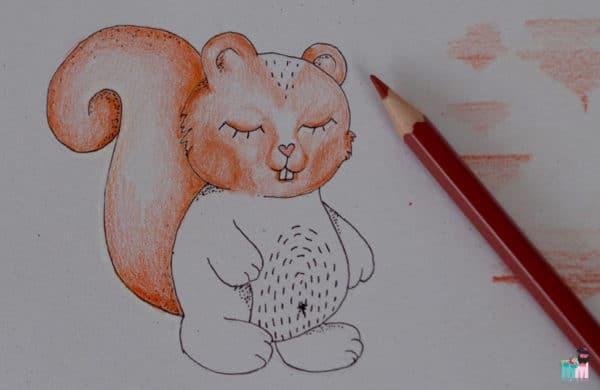 Kinderzeichenkurs Teil 2 - Die vier GE's - Eichhörnchen Malen