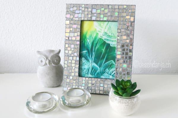 CD-Mosaik mit Glitzer