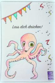 Kinder Geburtstagskarten - Vorlagen 4 free