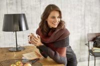 Cooles Tuch in warmen Herbstfarben