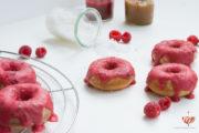 Donuts mit Salzkaramell & Himbeerfrosting | Mohntage