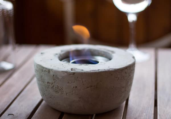 tischfeuerschale aus beton handmade kultur
