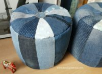 Pouf mit Schnittmuster + Anleitung