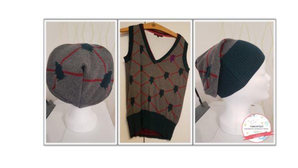 Mütze (Beanie) aus altem Kleidungsstück nähen
