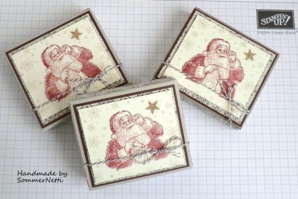 Weihnachtliche Schokiverpackung