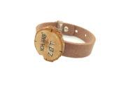 Cuoio Armband mit Uhr, Ich hab' Zeit, versch. Varianten