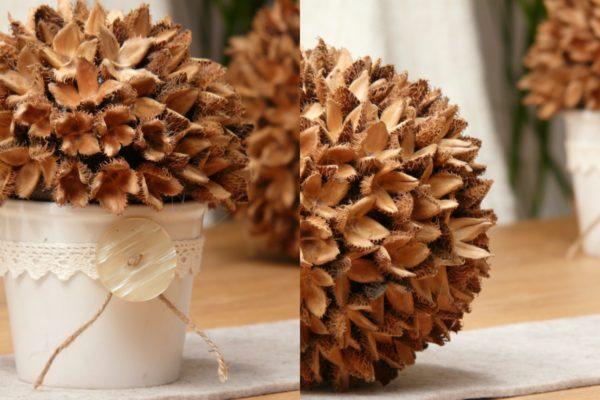dekokugel aus bucheckern basteln - handmade kultur,