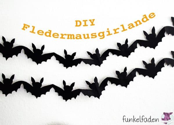 Fledermausgirlande Fur Halloween Handmade Kultur