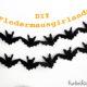 Fledermausgirlande für Halloween