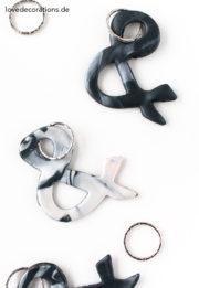 DIY marmorierte Schlüsselanhänger