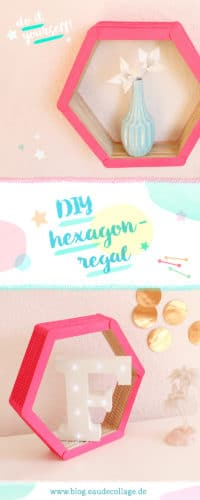 DIY HEXAGON-REGAL SELBER BAUEN OHNE WERKZEUG