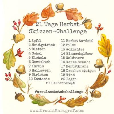 21 Tage Herbst-Skizzen-Challenge