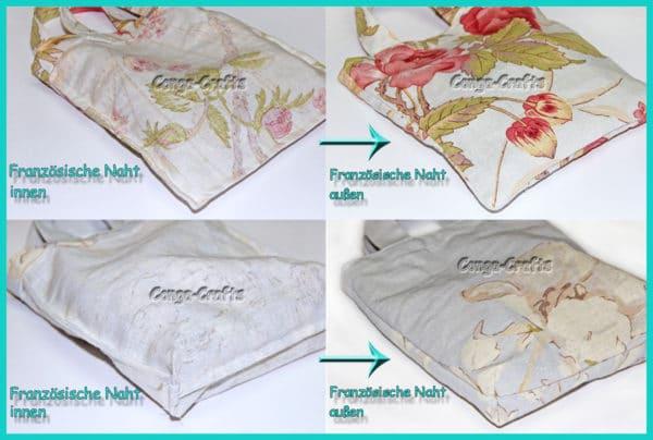 Tasche mit französischer Naht nähen - 2 Varianten