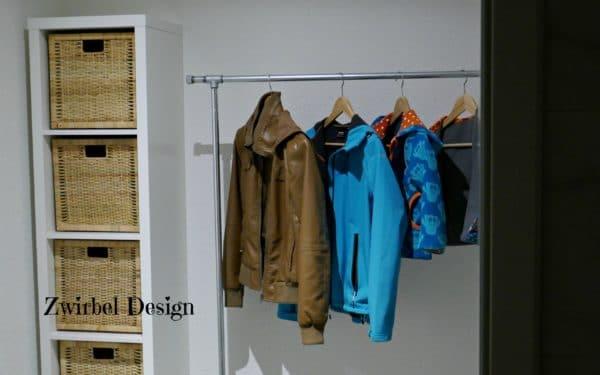 garderobe aus wasserrohren bauen handmade kultur. Black Bedroom Furniture Sets. Home Design Ideas