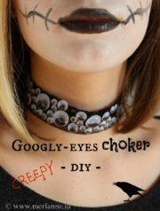 Augen-Blick mal! Googly-eyes Halsband für Halloween