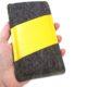 Handytasche aus Filz und gelber LKW-Plane, Maßanfertigung