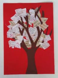Für Bücherbegeisterte: Herbst Collage aus Buchseiten