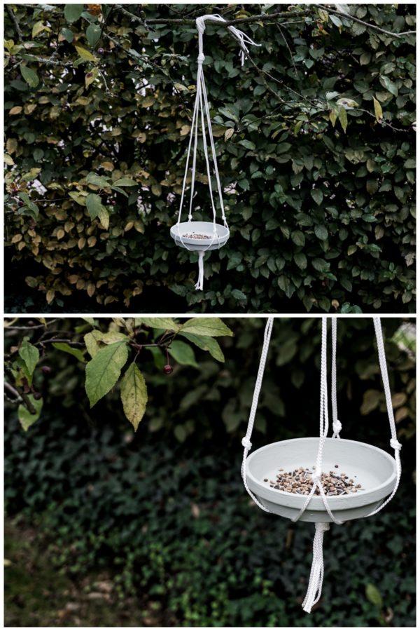 DIY Makramee-Vogelfutterplatz