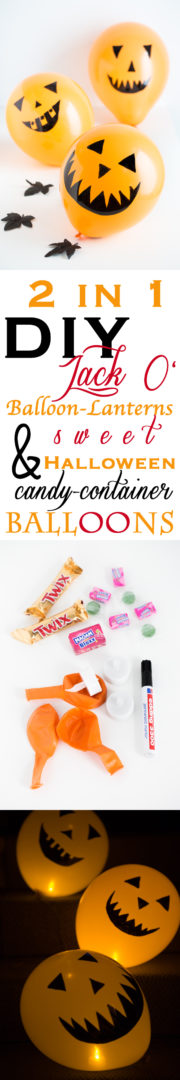 2 in 1 DIY: Hallowwen-Laternen und Candycontainer