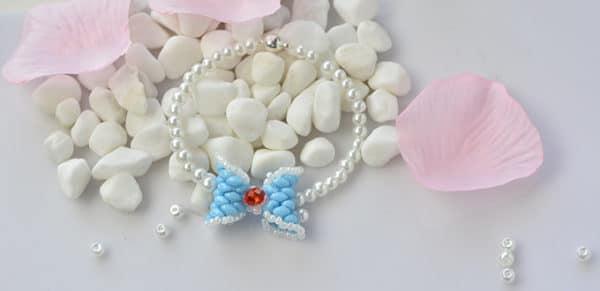 Wie fertigen Sie Schleife Armband mit verschidenen Perlen