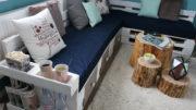 Sofa aus Europaletten mit vielen Extras!!