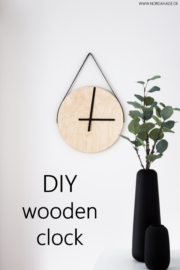 DIY // Holzuhr aus IKEA Frosta Hocker / wooden clock