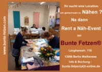 Mietlocation Bunte Fetzen® - Rent a Näh-Event !