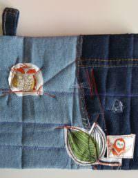 Topflappen aus Jeansresten