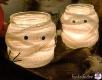 Halloween - Gruselige Mumienlichter