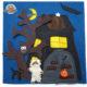 Teddy und das Gruselhaus - Quiet book - Spielbuch